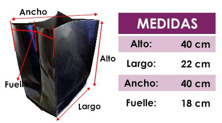 Medidas de bolsa cultivo detalle